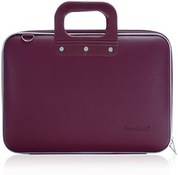 Laptoptas Bombata model Medio 13inch 38x29x7cm in de kleur plum purple.