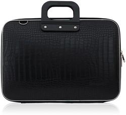 Laptoptas Bombata model Cocco 15.6inch 43x33x7cm in de kleur black.
