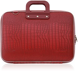 Laptoptas Bombata model Cocco 15.6inch 43x33x7cm in de kleur red.