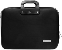 Laptoptas Bombata model Business 15.6 inch 43x33x13cm nylon in de kleur black.
