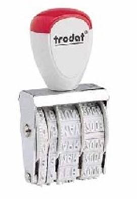 Datumstempel Trodat datumstempel open afdrukhoogte 5mm.