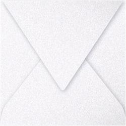 Gekleurde envelop Pollen 140x140mm 120 grams wit metal 20 stuks.