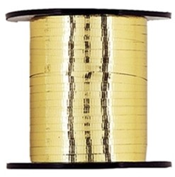 Cadeauband 10mmx250meter metallic goud kleur 03.