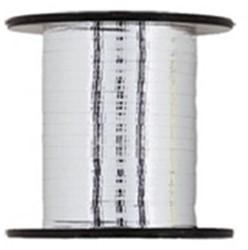 Cadeauband 10mmx250meter metallic zilver kleur 04.