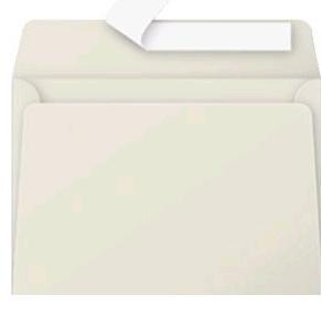 Gekleurde envelop Pollen C6 114x162mm 120 grams zelfklevend parelgrijs 20 stuks.