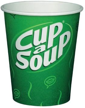 Unox Cup-a-Soup kartonnen bekers verpakt per 50 stuks.
