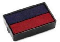 Inktkussen E10 Colop S-120D datumstempel blauw/rood.
