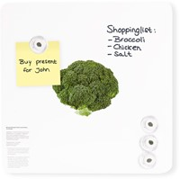 Magneetbord Dresz Broccoli 29x29cm incl. 4 magneten.