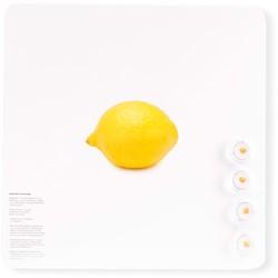 Magneetbord Dresz Lemon 29x29cm incl. 4 magneten.