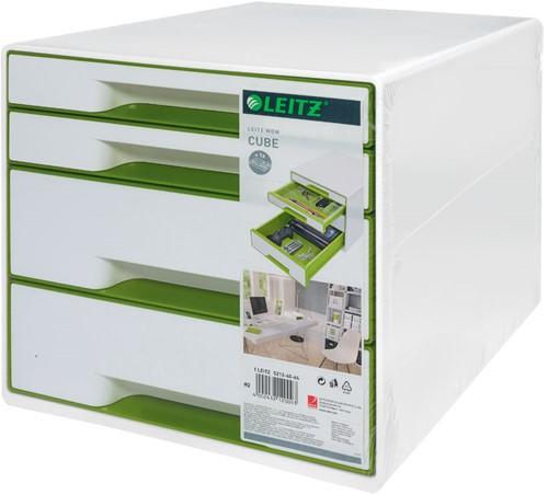 Ladenblok Leitz WOW 4 laden wit/groen (model/kleur 2019).