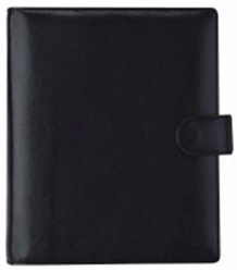 Agenda omslag Succes A5 model Deluxe - plantaardig gelooid volnerf rundleer in de kleur zwart - mechaniek: 25mm PE214DL02.