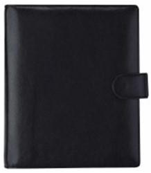 Agenda omslag Succes A5 model Deluxe - plantaardig gelooid volnerf rundleer - Kleur: Zwart- mechaniek: 25mm PE214DL02.