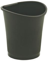 Papierbak Esselte kunststof rond zwart 18 liter.