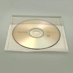 CD/DVD hoesjes 135x135mm met klep 100 stuks.