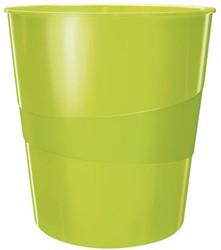 Papierbak Leitz WOW kunststof rond/taps groen 15 liter 290x324x290mm.