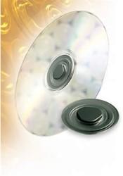 CD rondjes transparant zelfklevend om cd's vast te klikken 100 stuks.