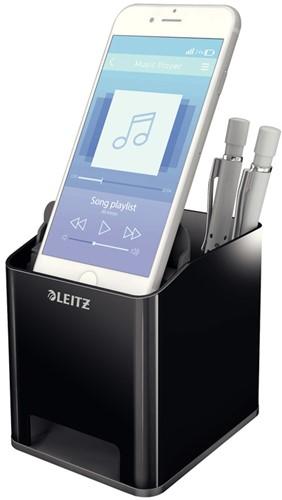 Pennenhouder Leitz 5363 Duokleur zwart/grijs.
