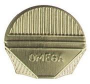Hoekpapierclips Alco aluminium goud 100 stuks.