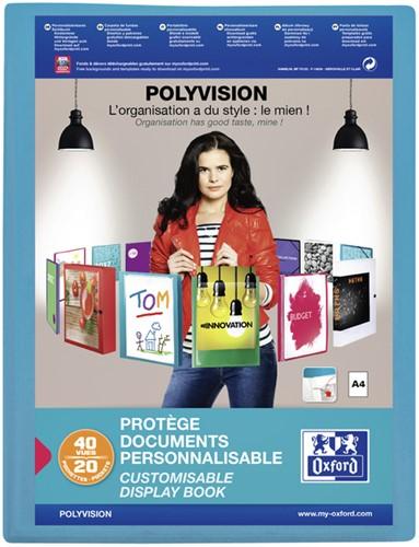 Showalbum Elba Polyvision 20-tassen blauw.