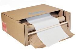 GeamiWrap Exbox samengesteld 2 rollen 508mmx 1x rol80gr + 1x rol 22g bruin/wit papier 490mmx600.00mx220mm doos met 2 rollen.