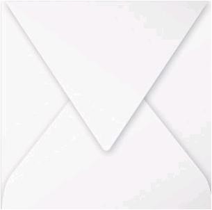 Gekleurde envelop Pollen 140x140mm 120 grams wit 20 stuks.
