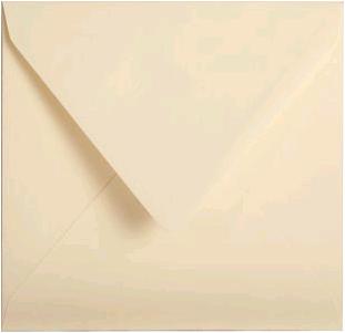 Gekleurde envelop Pollen 140x140mm 120 grams creme 20 stuks.