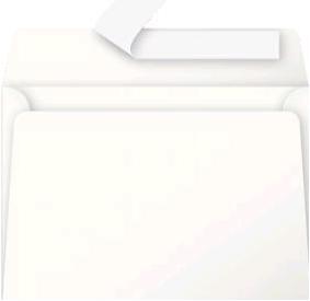 Gekleurde envelop Pollen C6 114x162mm 120 grams zelfklevend creme 20 stuks.