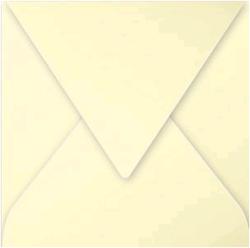 Gekleurde envelop Pollen 140x140mm 210 grams geel 20 stuks.