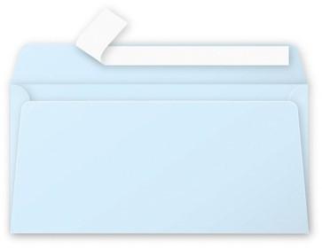 Gekleurde envelop Pollen EA5/6 110x220mm 120 grams zelfklevend blauw 20 stuks.