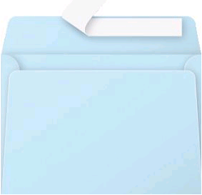 Gekleurde envelop Pollen C6 114x162mm 120 grams zelfklevend blauw 20 stuks.