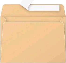 Gekleurde envelop Pollen C6 114x162mm 120 grams zelfklevend mokkabruin 20 stuks.