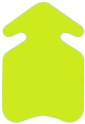 Prijskarton pijl 31x45cm fluor geel 400 grams 10 stuks.