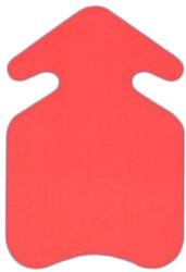 Prijskarton Pijl 10x15cm fluorrood 300 grams 50 stuks.