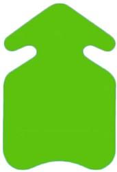 Prijskarton Pijl 10x15cm fluorgroen 300 grams 50 stuks.