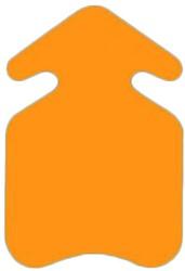 Prijskarton pijl 22x32cm fluor oranje 400 grams 10 stuks.