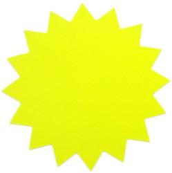 Sterkarton 18cm fluor geel 20 stuks.