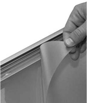 Beschermfolie 70x100 cm mat ontspiegeld t.b.v. stoepborden.