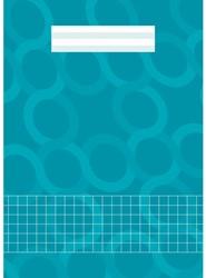 Schrift Kangaro A4  soepele kartonnen kaft in assorti kleuren - 40 vel 10mm geruit papier - verpakt per 5 stuks.