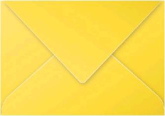 Gekleurde envelop Pollen C5 162x229mm 120 grams zonnegeel 20 stuks.