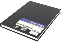 Dummybook Kangaro A5 100 grams 80 bladzijden blanco hard cover zwart.