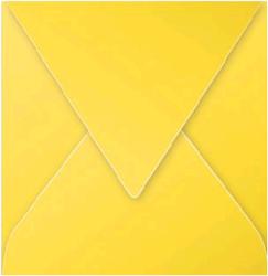 Gekleurde envelop Pollen 140x140mm 120 grams zonnegeel 20 stuks.