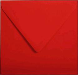 Gekleurde envelop Pollen 140x140mm 120 grams kersenrood 20 stuks.
