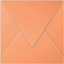 Gekleurde envelop Pollen 140x140mm 120 grams oranje 20 stuks.