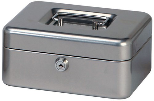 Geldkist Maul 200x170x90mm zilver.-2