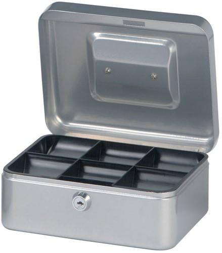 Geldkist Maul 200x170x90mm zilver.