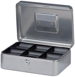 Geldkist Maul 250x191x90mm zilver.
