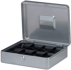 Geldkist Maul 300x245x90mm zilver.