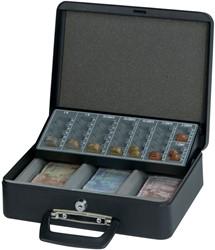 Geldkist Maul 300x258x90mm met euro muntinzetbak zwart