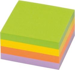 Memoblok zelfklevend Info-Notes 50x40mm assorti kleuren spring 12 stuks.