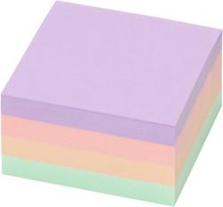 Memoblok zelfklevend Info-Notes 50x40mm assorti kleuren pastel 12 stuks.